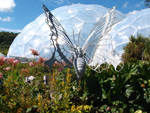 Eden Project - Butterfly Sculpture - July 2014