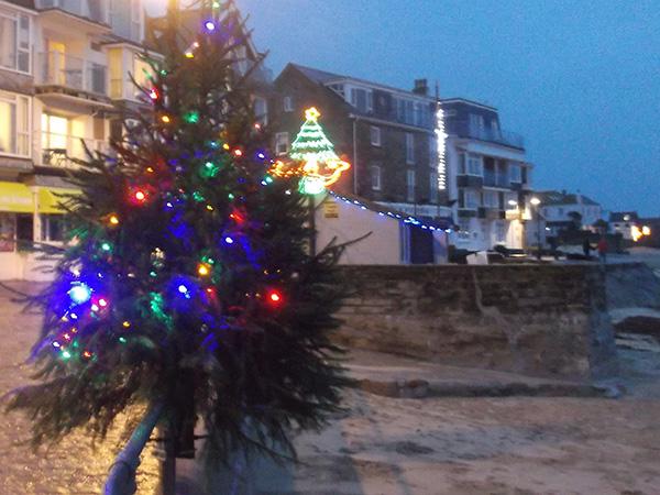 St Ives Cornwall Christmas Lights 2015