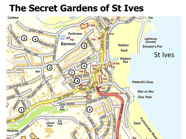 Gardens Cornwall Map Garden Ftempo